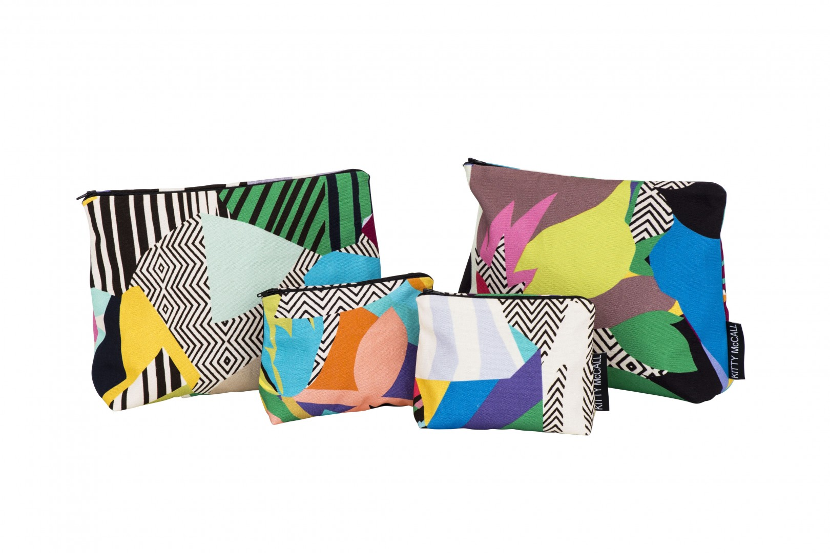Product shots of Kitty McCall textile items
