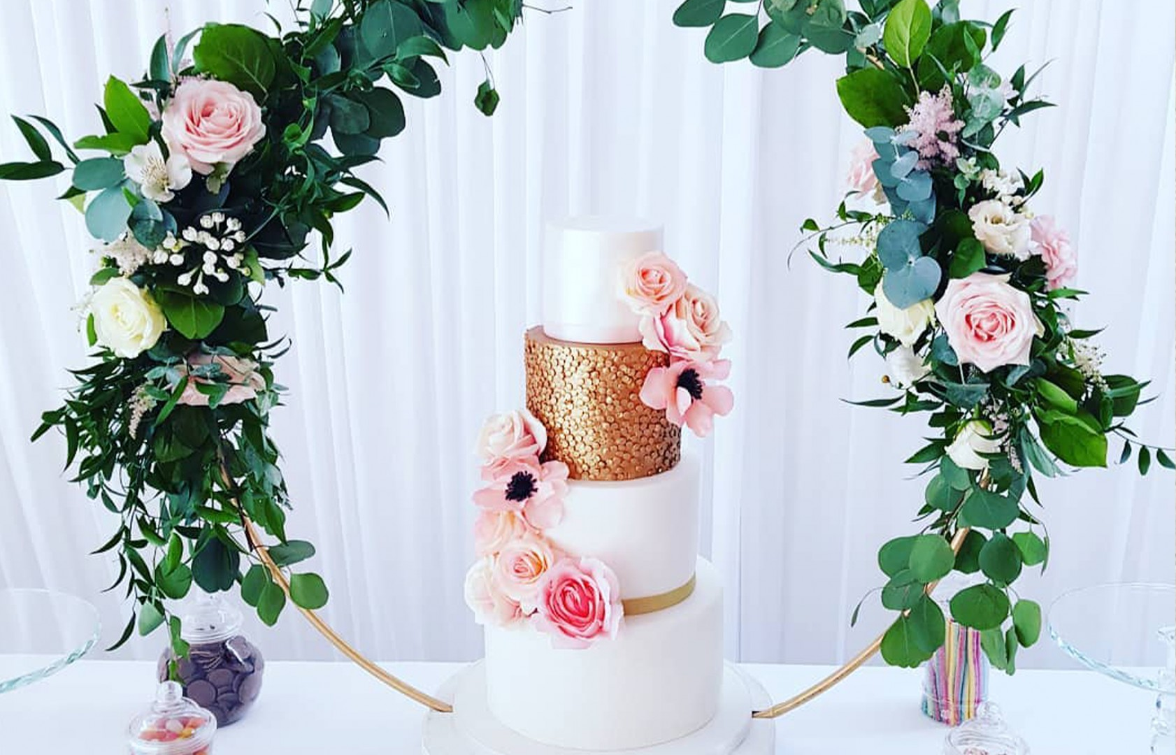 Wedding cake made by The Cake Junction