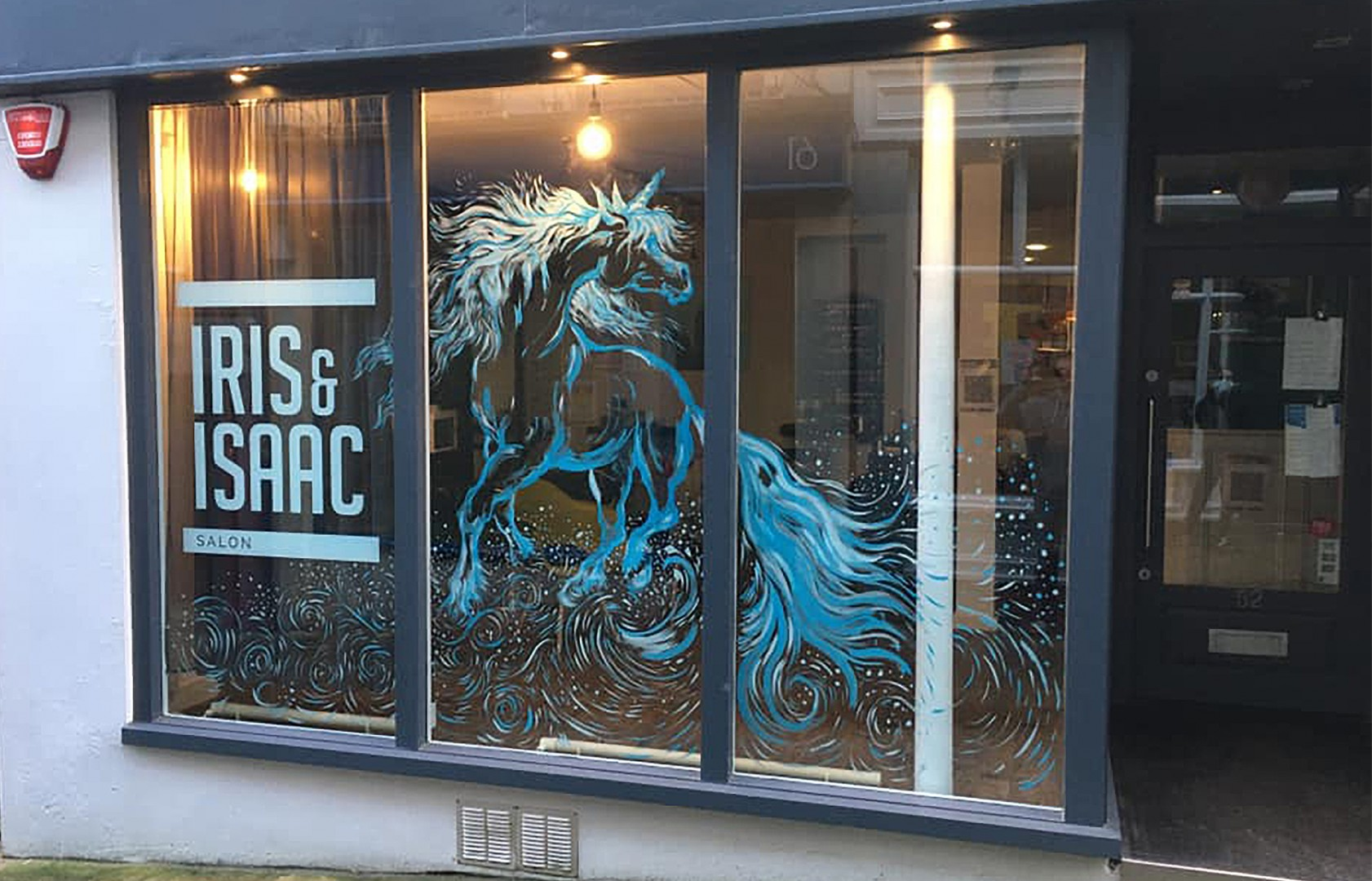 Iris and Isaac window display on The Old High Street