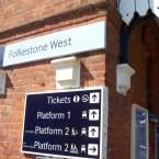 Folkestone West signage 04.07.08