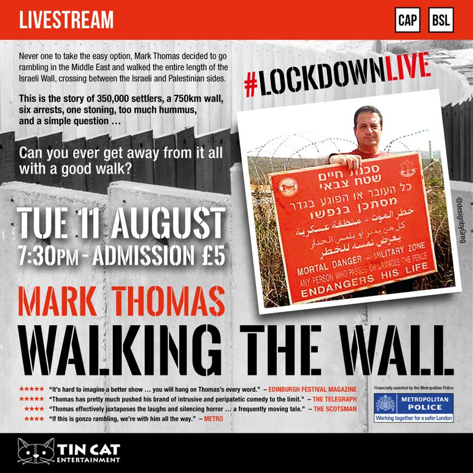 Mark Thomas: Walking on the Wall (live)