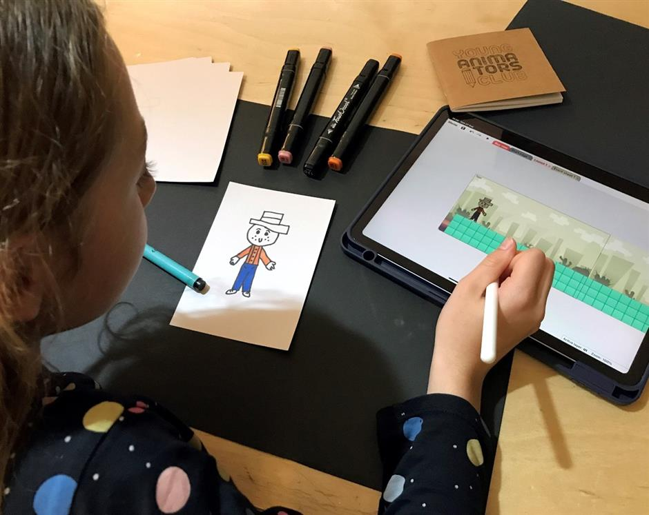 Design for Gaming Workshop with Young Animators for 8-12 year olds