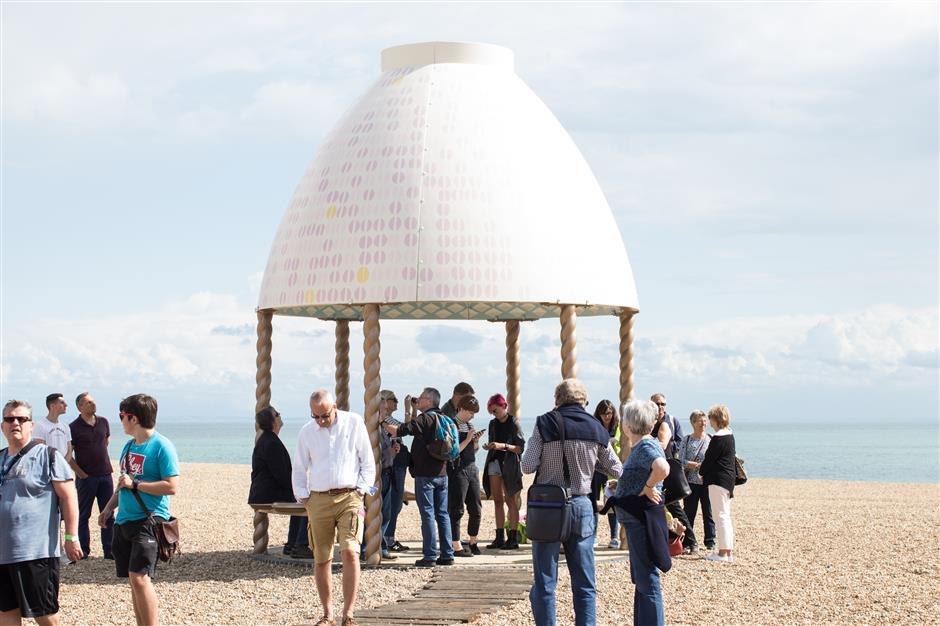 Folkestone Artworks tour led by Emma Wilcox