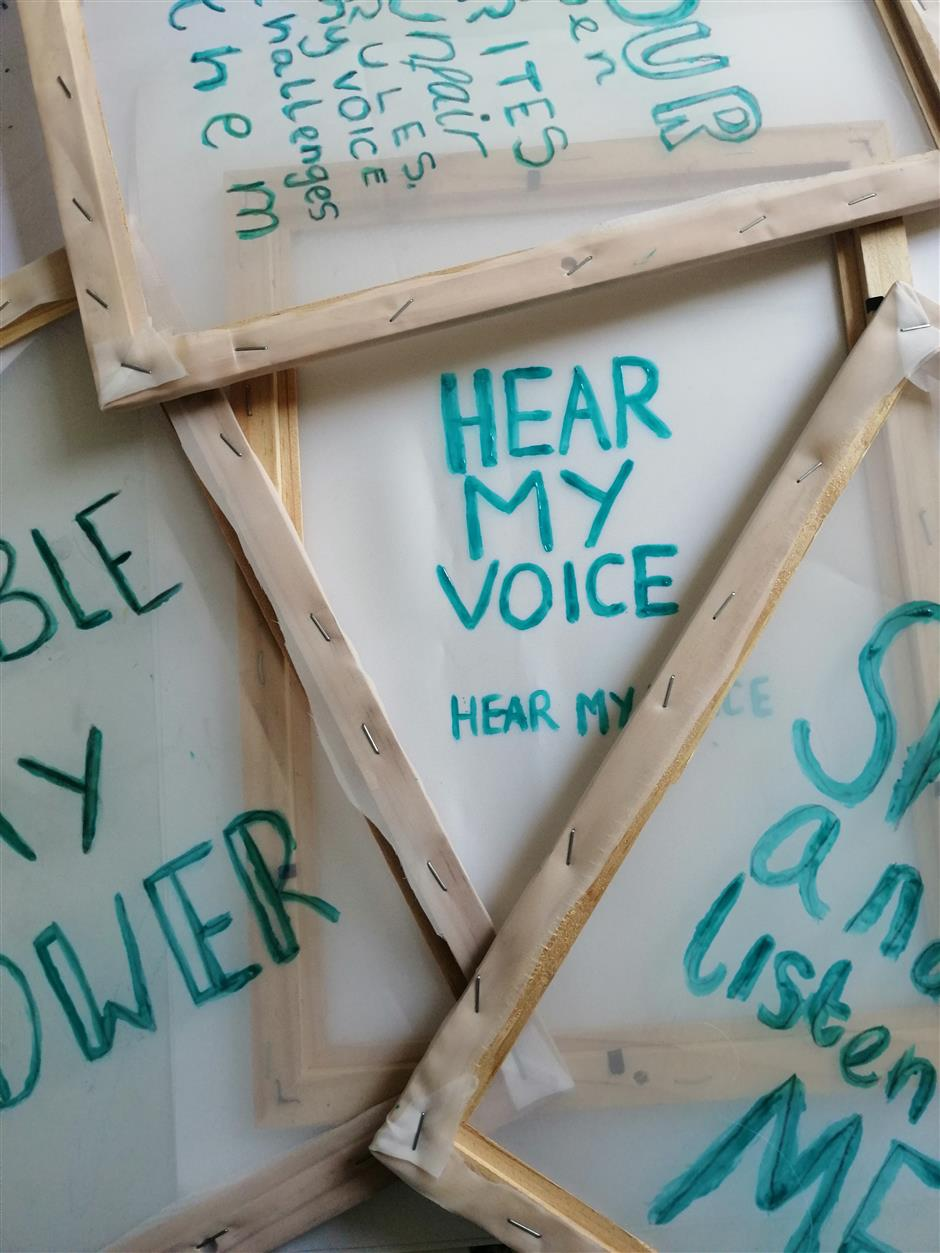 Take Up Space: Hear My Voice: Exhibition