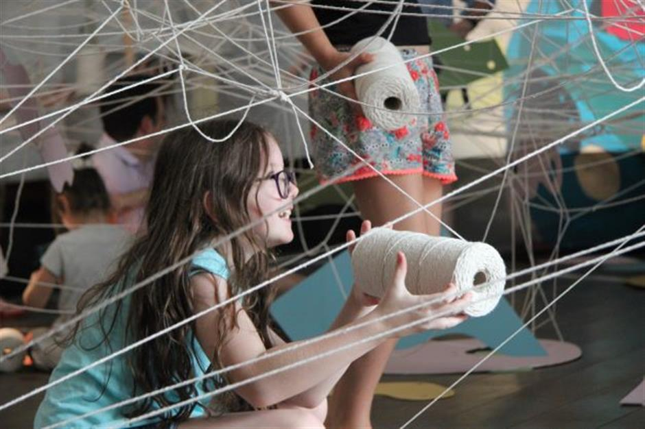 Triennial Family Workshop - Play Making with Leap Then Look